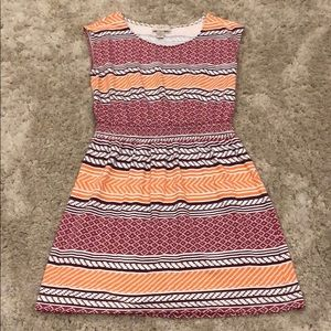 LOFT Printed Cotton Sleeveless Dress
